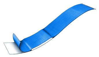 Kit Detecteerbare blauwe PE pleister 20 x 120 mm (100 st.)